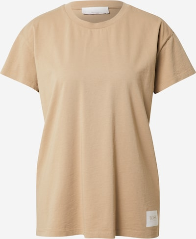 BOSS Casual Тениска 'Egar' в светлобежово / бяло, Преглед на продукта