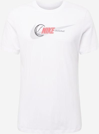 NIKE T-Shirt fonctionnel en gris clair / orange / blanc, Vue avec produit