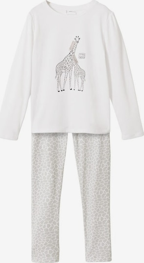 MANGO KIDS Pajamas 'Jirafa' in Taupe / Light grey / White, Item view
