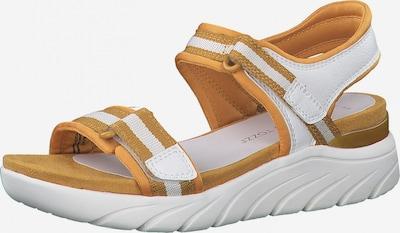 Sandale MARCO TOZZI pe maro coniac / alb, Vizualizare produs
