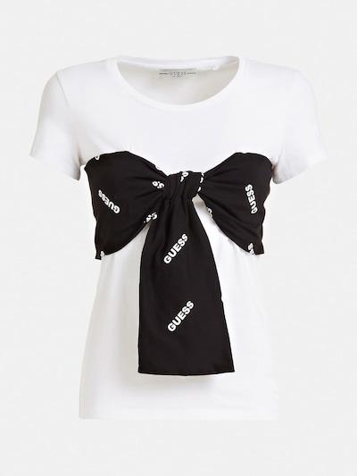 GUESS T-Shirt in schwarz / weiß, Produktansicht