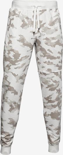 UNDER ARMOUR Sportbroek 'Rival' in de kleur Bruin / Wit, Productweergave