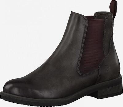 TAMARIS Chelsea Boots in dunkelbraun / bordeaux, Produktansicht