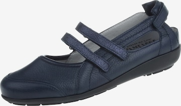 Natural Feet Ballet Flats with Strap in Blue