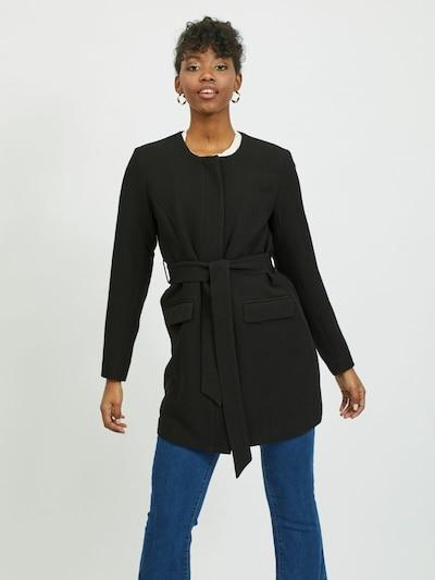 VILA Übergangsmantel in schwarz, Modelansicht