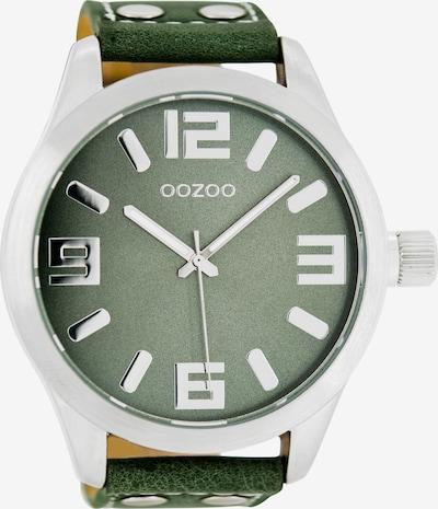 OOZOO Uhr in grasgrün / silber, Produktansicht