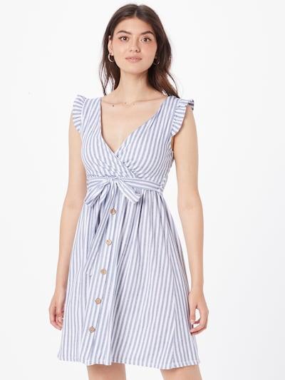 Hailys Kleid 'Alexia' in taubenblau / weiß, Modelansicht