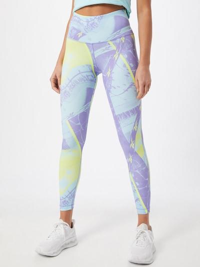 Reebok Sport Sporthose in limone / lila, Modelansicht