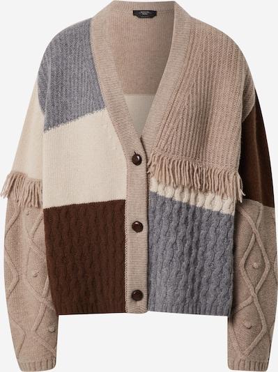 Geacă tricotată 'FIOCCO' Weekend Max Mara pe crem / maro deschis / gri închis / roșu burgundy, Vizualizare produs