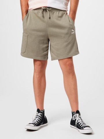 PUMA Klapptaskutega püksid, värv roheline