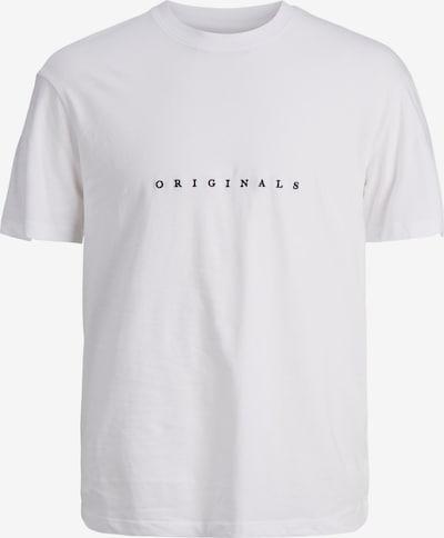 JACK & JONES T-shirt 'Copenhagen' i mörkblå / vit: Sedd framifrån