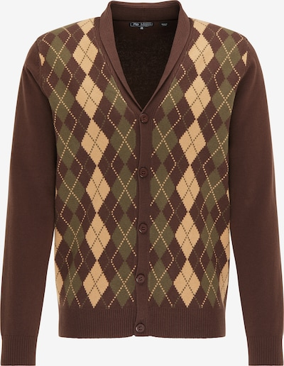 Geacă tricotată MO pe bej / maro / kaki, Vizualizare produs