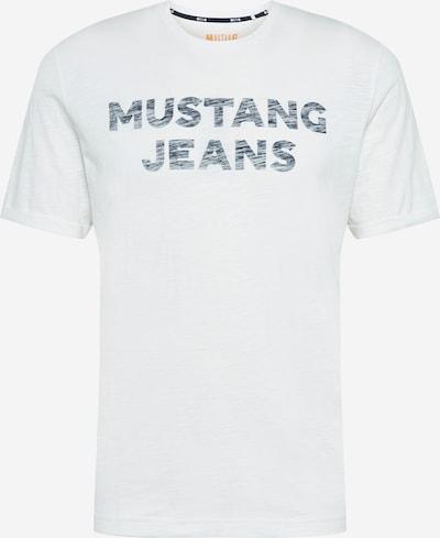 MUSTANG Tričko 'Alex' - tmavomodrá / biela, Produkt