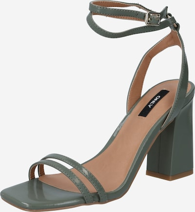 ONLY Strap sandal 'ALYX' in grass green: Frontal view