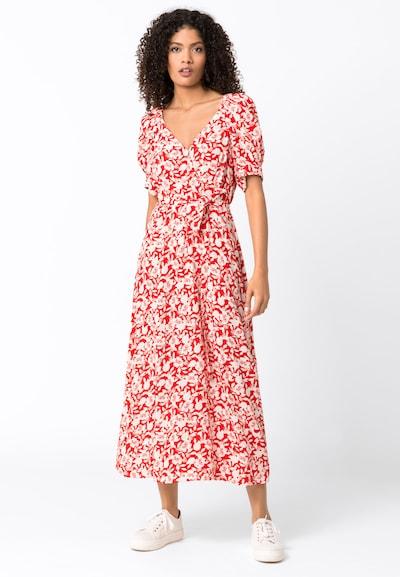 HALLHUBER Midikleid mit Blumenprint in rot, Modelansicht