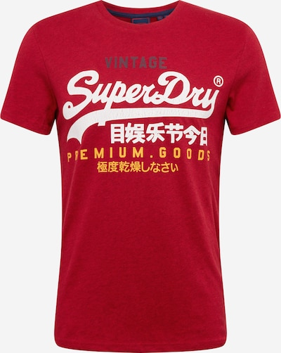 Tricou 'Vintage' Superdry pe galben / roșu / alb, Vizualizare produs