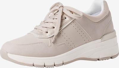 s.Oliver Sneakers laag in de kleur Beige: Vooraanzicht