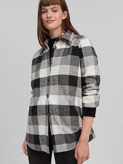 O'NEILL Bluse in grau / graumeliert / schwarz / weiß, Modelansicht