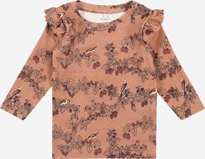 NAME IT Shirt 'OCTAVIA' in braun / dunkelrot / schwarz, Produktansicht