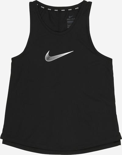 NIKE Sporttop 'Trophy' in de kleur Zwart / Wit, Productweergave