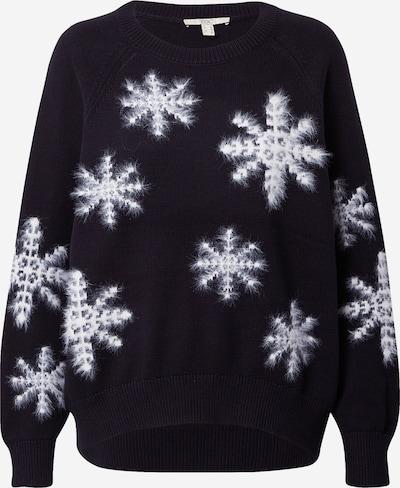EDC BY ESPRIT Pullover in schwarz / weiß, Produktansicht