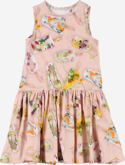 Molo Kleid 'Candece' in limone / hellgrün / neonorange / altrosa / weiß, Produktansicht
