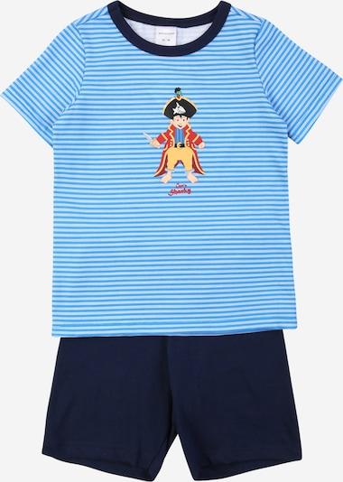 SCHIESSER Pidžama tumši zils / debeszils / dzeltens / rūsgans / balts, Preces skats