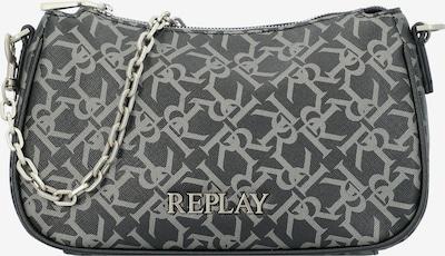 REPLAY Tasche in schwarz / silber / weiß, Produktansicht