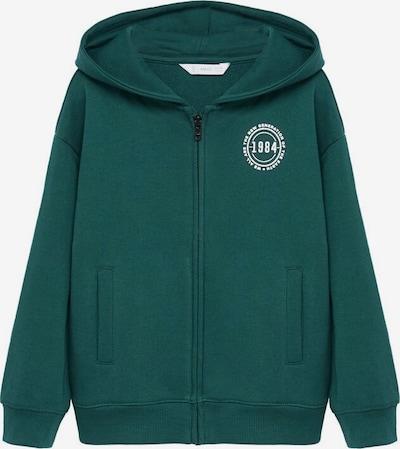 MANGO KIDS Sweatshirt in dunkelgrün / weiß, Produktansicht