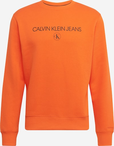 Calvin Klein Jeans Sweatshirt in orange / schwarz, Produktansicht