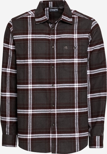 CRAGHOPPERS Functional shirt in wine red / black / white, Item view