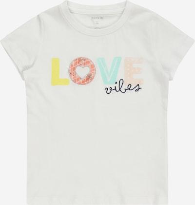 NAME IT T-Shirt 'HAFUN' en mélange de couleurs / blanc: Vue de face