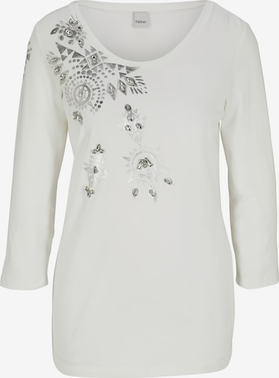 Tricou heine pe alb, Vizualizare produs