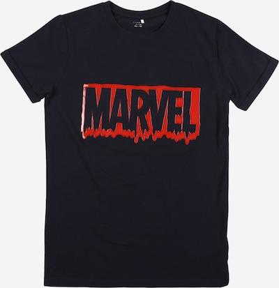NAME IT Shirt 'Marvel' in saphir / rot, Produktansicht