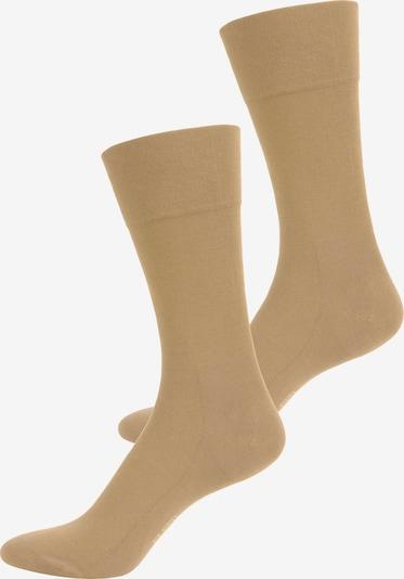 ELBEO Freizeitsocken ' 2er-Pack Sensitive Bamboo ' in beige, Produktansicht
