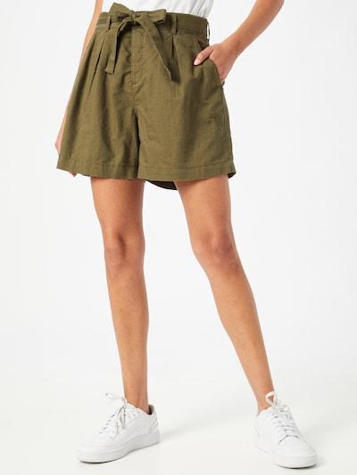 Pantaloni con pieghe EDC BY ESPRIT di colore cachi, Visualizzazione modelli