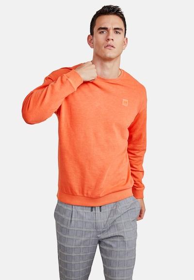 NEW IN TOWN Rundhals Sweatshirt mit lässigem Schnitt in orange: Frontalansicht