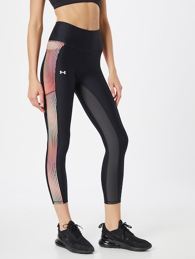 UNDER ARMOUR Workout Pants in Yellow / Pink / Black, View model