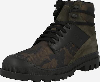 HUGO Šněrovací boty 'Bustler' - hnědá / tmavě zelená / černá, Produkt