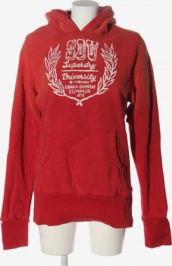 Superdry Kapuzensweatshirt in L in rot / weiß, Produktansicht