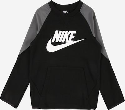 Maglietta Nike Sportswear di colore grigio / nero, Visualizzazione prodotti