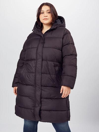 ONLY Carmakoma Mantel 'New Cammie' in schwarz, Modelansicht