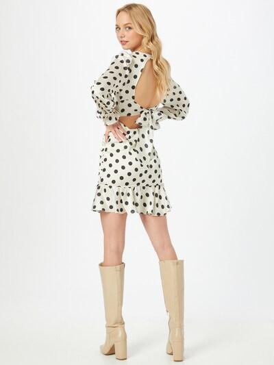 Trendyol Kleid in creme / schwarz, Modelansicht