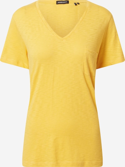 Superdry T-shirt 'POCKET V NECK TEE' en jaune, Vue avec produit