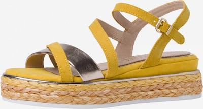 MARCO TOZZI by GUIDO MARIA KRETSCHMER Sandale in gelb / silber, Produktansicht