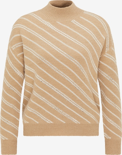 faina Pullover in creme / camel, Produktansicht