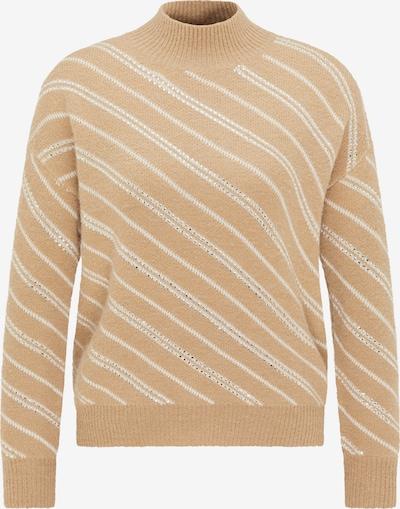 faina Sweter w kolorze kremowy / camelm, Podgląd produktu