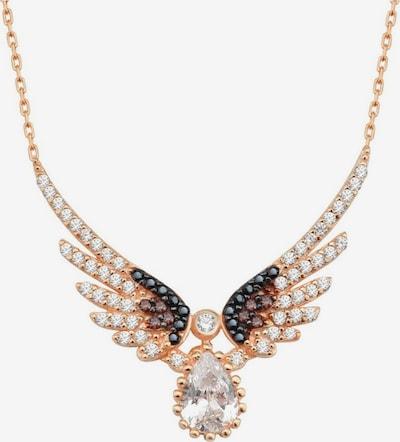 Dkeniz Silberkette 'Flügel Kette Rose' in rosegold / pink / rosé, Produktansicht