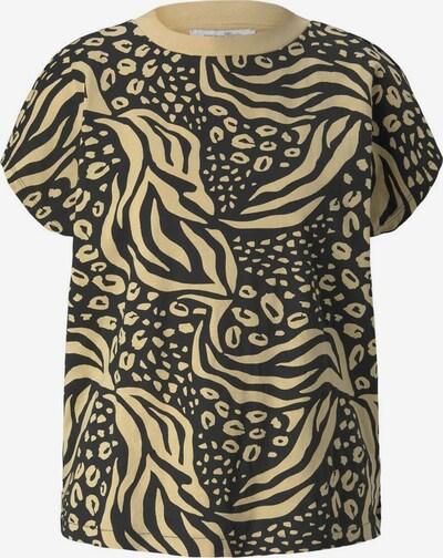 TOM TAILOR DENIM T-Shirt in beige / schwarz, Produktansicht