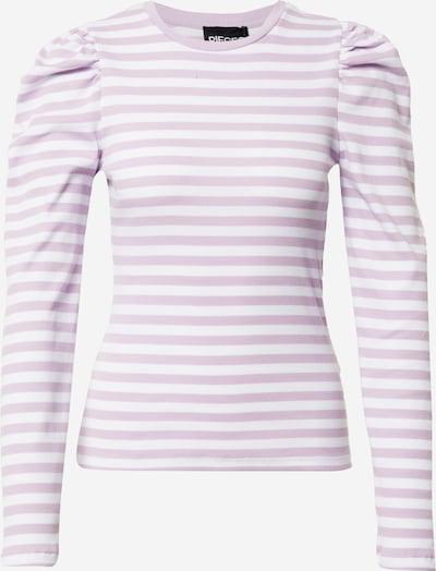 PIECES Shirt 'ANNA' in lila / weiß, Produktansicht